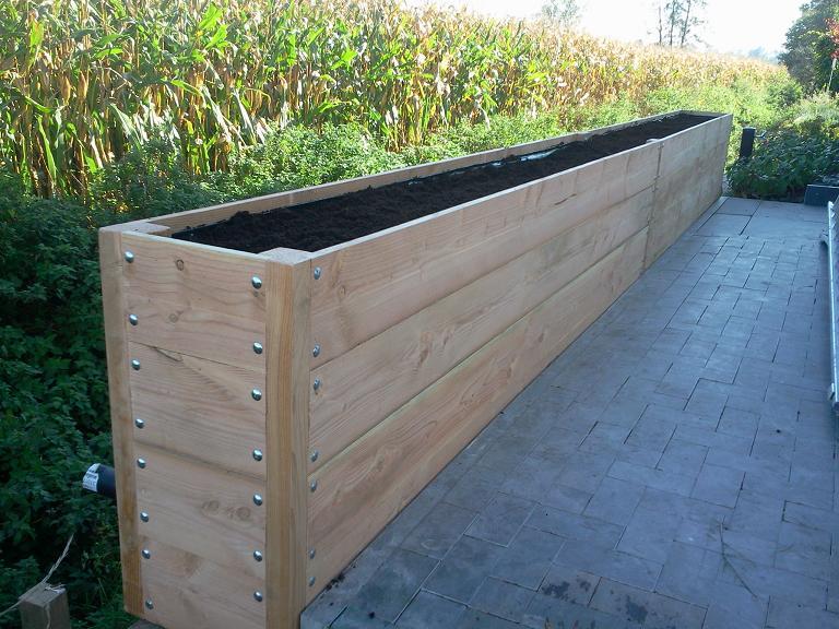 Plantenbak lariks horiso 600x40x80cm f c tuindecoratie - Buiten idee ...